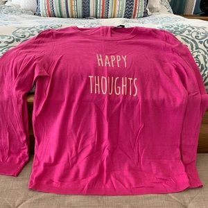 "Talbots ""Happy Thoughts"" spring sweater."